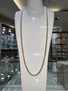 Brand New 10k Yellow Gold Rope Chain Link 30 inches 5 mm 17.4 gr
