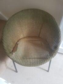 Lloyd loom saucer chair