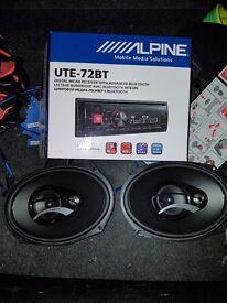 alpine head unit + hertz 200w 6x9 speakers