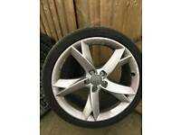 Audi a5 sline split spokes 19 inch alloys genuine oem