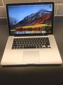"""Apple Macbook Pro 15"""" A1286 2.4Ghz i7 quad, 250gb SSD, 8gb ram, Radeon 6770 1gb"""
