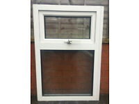 UPVC DOUBLE GLAZED WINDOW TOP OPENER 64cm WIDE 97cm HIGH CLEAR GLASS Can Deliver