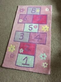 Girls NEXT BEDROOM RUG - playroom - thick and lovely