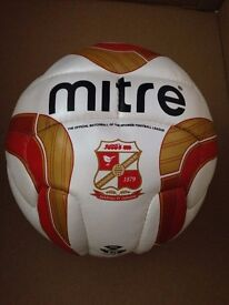 Mitre official Swindon Town matchball football from the 2011/12 title winning season.