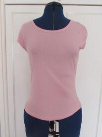 Next pink cotton top Size 10 Excellent condition