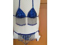New Handicraft Bead Sequins Belly Dance Bikini or Special Occasional Size 8/10