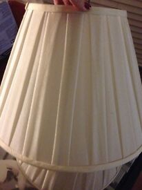 Cream lamp shades MUST GO !! £5