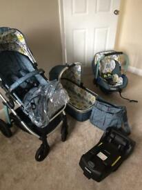 Cosatto travel system. Pushchair.car seat . Travel cot