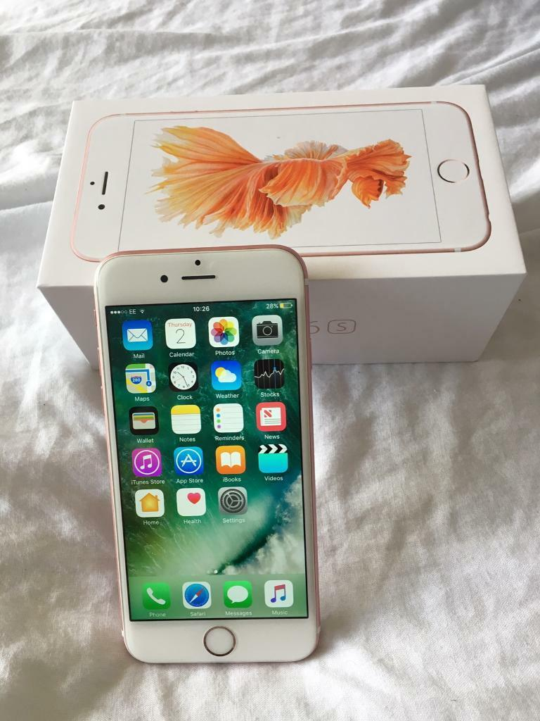 Apple iPhone 6s unlocked rose gold boxed still has apple warranty payg handset not Iphone 7in Rotherham, South YorkshireGumtree - Apple iPhone 6s 16 GB unlocked boxed in excellent condition still under apple warranty until June 2017 so less than one year old. Not on any contract as it was bought from apple unlocked Genuine reason for sale hence £300 NO OFFERS Cash onlyNo swaps...