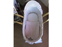 Moses basket, stand & Moses sheets. All brand new!!