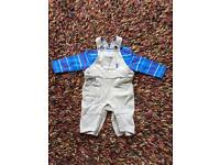 Ted Baker dungaree set 0-3 months