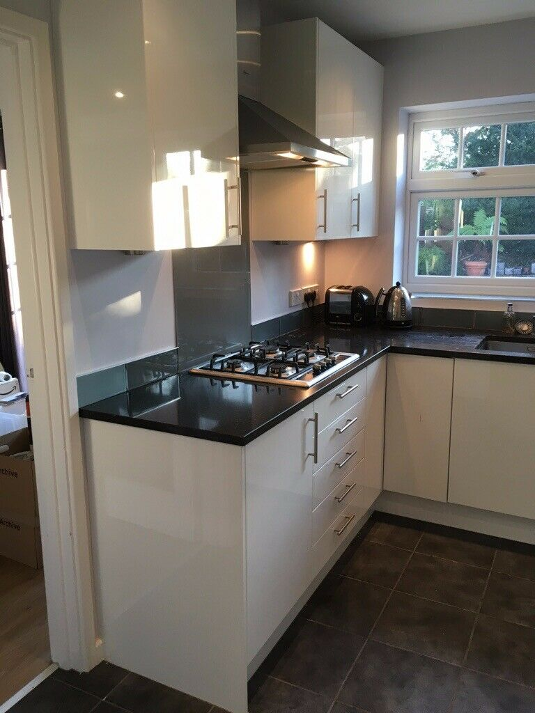 John Lewis White Modern Used Kitchen In Hove East Sussex