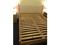 King Size Ikea bed with adjustable woven headboard