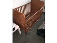 Cot Bed (antique pine).
