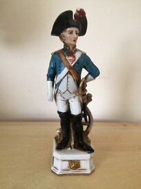 1 naples figurine of soldier raised on a plinth with the crownS Notation trademark