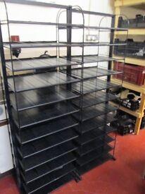 2x Large Black Storage Rack Bay Shelves Shelfs Industrial 168x53cm