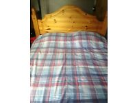 Standard size double bed