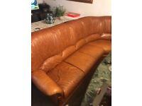 Tan corner sofa