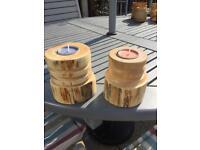 Lathe turned tea light candle holders