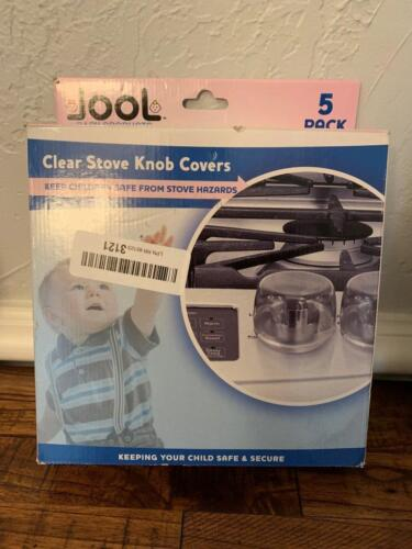 Jool Clear Stove Knob Covers Child Safety Guards Large Universal Design 5pk New