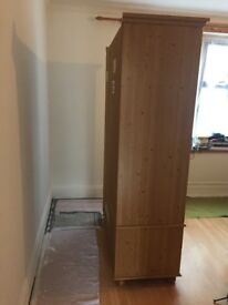 Large solid wooden wardrobe