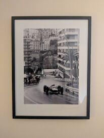 Framed picture of 1965 Monaco Grand Prix F1 - large (83 cm x 63 cm)