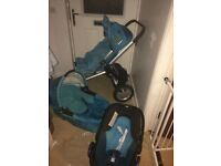Quinny buzz pram car seat travel system