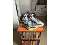 Yellow & silver lebron trainer