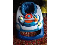 Job lot: buggy; baby walker/activity centre; cot mattress; new safety gate