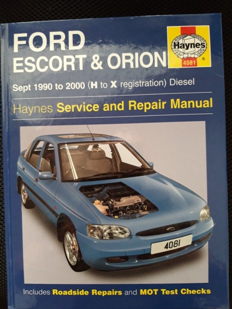 Haynes Service and Repair Manual FORD Escort and Orion 1990 - 2000