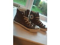 Used Grey high top converse