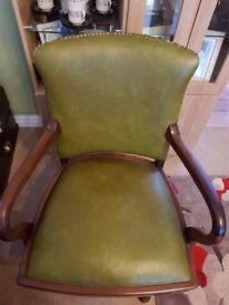Beautiful Art Deco swivel action captains chair