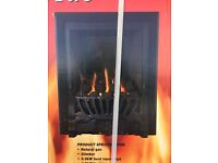 Gibson Gas Fire Brushed Black Effect 3.3kW