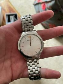Silver (stainless steel) Emporio Armani watch (used)