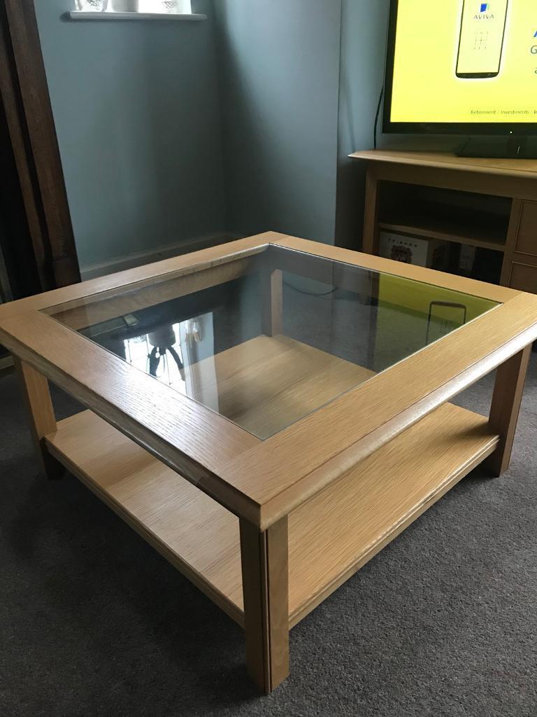 Lichfield Square Oak Coffee Table M S