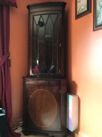 Corner Mahogany Display Cabinet