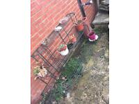 Plant pot rack/shelving