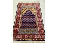 Vintage handmade Persian wool rug. 160cm x103cm.