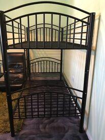 New black metal bunkbeds and I kea mattresses