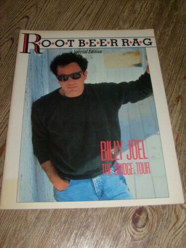 Billy Joel Concert Program 1986  The Bridge Tour  Root Beer Rag