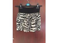 Animal print skirt H&M size 8