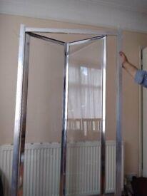 Bifold Shower Door Fits Up to 100cm