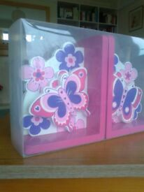 STYLISH LANKA KADE BOOKENDS - A CHRISTMAS PRESENT? - NEW & BOXED - BUTTERFLY DESIGNS - £12.00 ono
