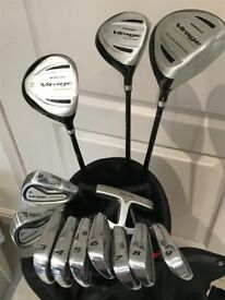 Used Knight golf clubs with golf bag. Ideal as a starter set. Great Christmas gift