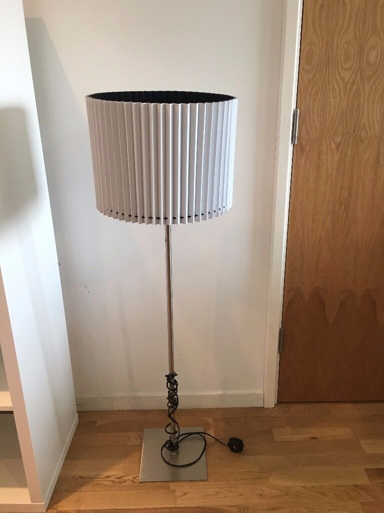 silver ikea lamp stand with white made lampshade 8 in. Black Bedroom Furniture Sets. Home Design Ideas