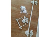 Victorian Shabby Chic Style Toilet Roll Holder and Towel Rail fixtures