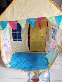 Peppa pig pop up tent