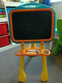 Kids double side blackboard, whiteboard