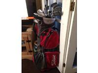 Titleist Golf Clubs Set & Cart Bag