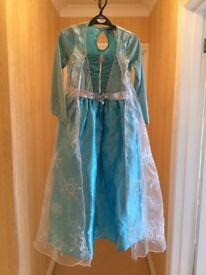 Disney Frozen Elsa dressing up dress age 7-8